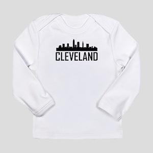 Skyline of Cleveland OH Long Sleeve T-Shirt
