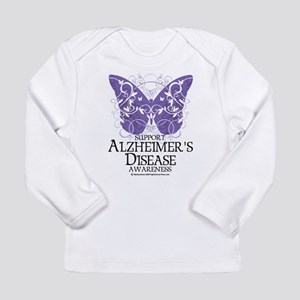 Alzhimers Butterfly 4 Long Sleeve Infant T-Shirt