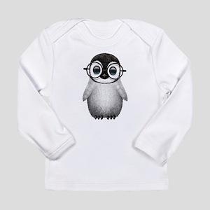 Cute Baby Penguin Wearing Glasses Long Sleeve T-Sh
