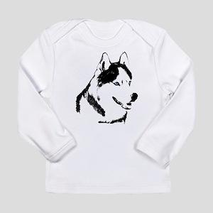 Siberian Husky Malamute Sled Dog Long Sleeve T-Shi