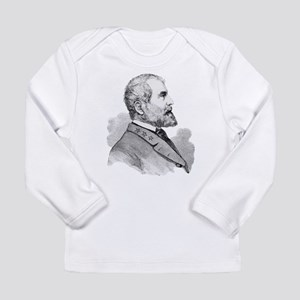 Robert E Lee Portrait Illustra Long Sleeve T-Shirt