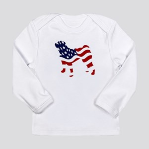 Patriotic Pug - Long Sleeve Infant T-Shirt