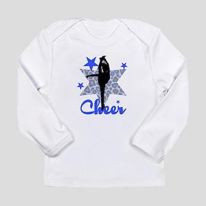 Blue Cheerleader Long Sleeve T-Shirt