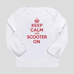 Keep Calm Scooter Long Sleeve Infant T-Shirt