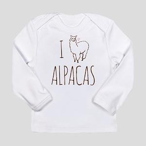 I Love Alpacas Long Sleeve Infant T-Shirt
