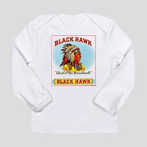 Black Hawk Chief Cigar Label Long Sleeve Infant T-