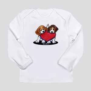 Beagle Heartfelt Duo Long Sleeve Infant T-Shirt