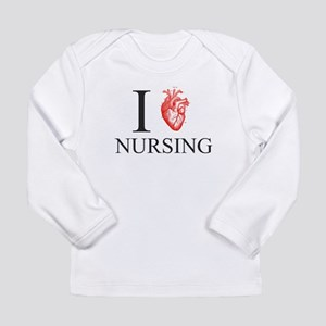 I Heart Nursing Long Sleeve T-Shirt
