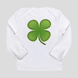 Lucky Irish Four Leaf Clover Long Sleeve Infant T-