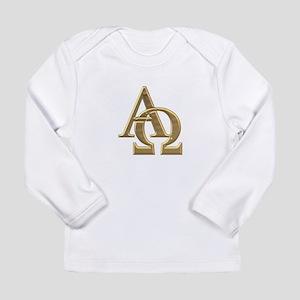 """3-D"" Golden Alpha and Omega Symbol Long Sleeve In"