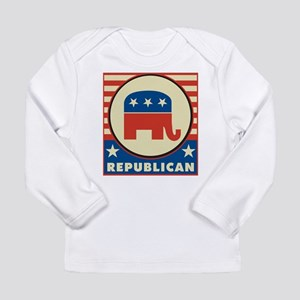 Retro Republican Long Sleeve Infant T-Shirt