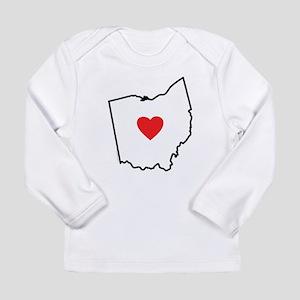 I Love Ohio Long Sleeve Infant T-Shirt