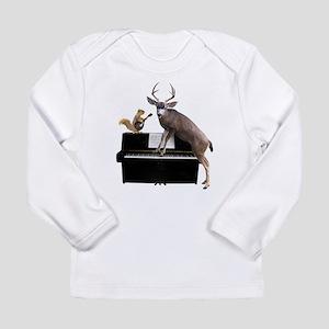 Deer Piano Long Sleeve T-Shirt