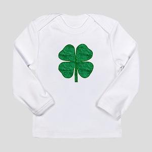 glitter shamrock Long Sleeve T-Shirt