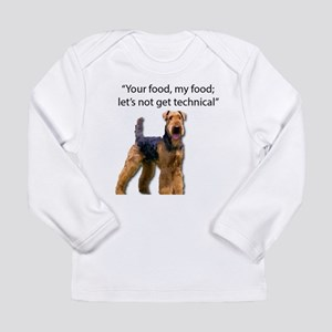 Your Food - My Food Airedale Long Sleeve T-Shirt