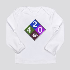 420 caution blue Long Sleeve Infant T-Shirt