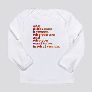 The Difference (red/orange) Long Sleeve Infant T-S