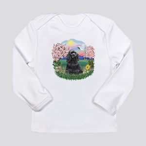 Blossoms-Black Cocker Long Sleeve Infant T-Shirt