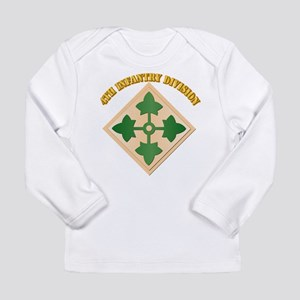SSI - 4th Infantry Division with text Long Sleeve
