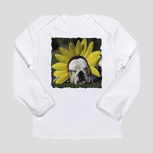BULLDOG SUNFLOWER Long Sleeve Infant T-Shirt