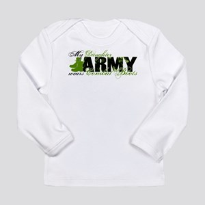 Daughter Combat Boots - ARMY Long Sleeve Infant T-