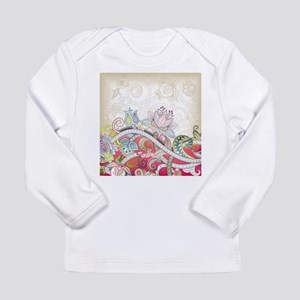 Abstract Floral Long Sleeve T-Shirt