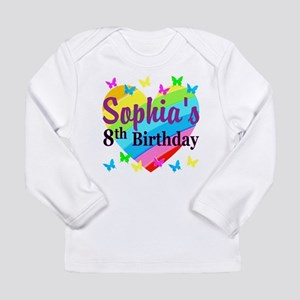 HAPPY 8TH Long Sleeve Infant T-Shirt