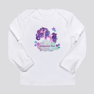 Cute Personalized Unicorn Long Sleeve T-Shirt
