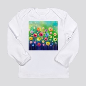 Watercolor Flowers Long Sleeve Infant T-Shirt