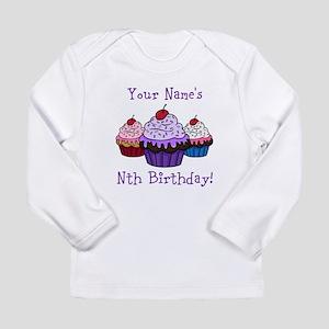 CUSTOM Your Names Nth Birthday! Cupcakes Long Slee