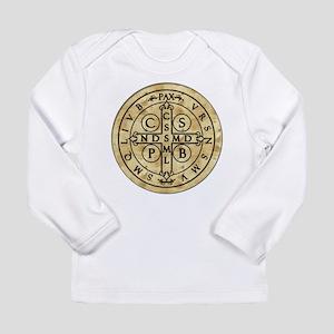 St. Benedict Medal Long Sleeve Infant T-Shirt