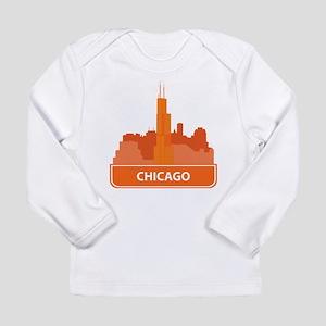 National landmark Chicago silh Long Sleeve T-Shirt