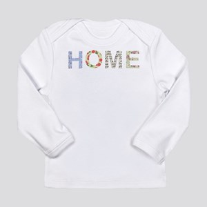 Vintage Floral Home Long Sleeve Infant T-Shirt
