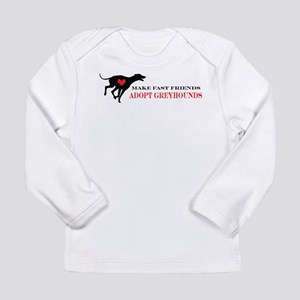 Adopt a Greyhound Long Sleeve Infant T-Shirt