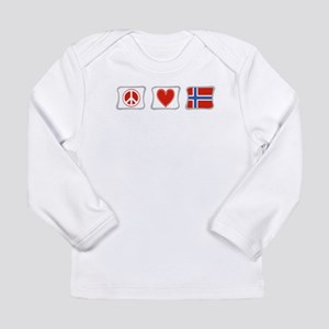 Peace, Love and Norway Long Sleeve Infant T-Shirt