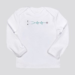 Stethescope Heart Rate Monitor Long Sleeve T-Shirt