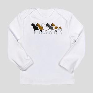 Group O' Akitas Long Sleeve Infant T-Shirt