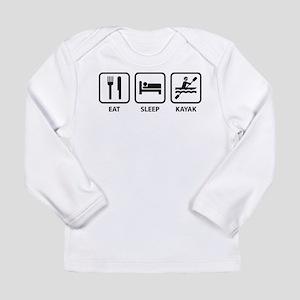 Eat Sleep Kayak Long Sleeve Infant T-Shirt