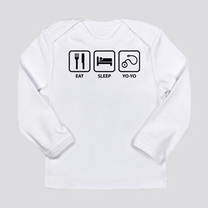 Eat Sleep Yo-Yo Long Sleeve Infant T-Shirt