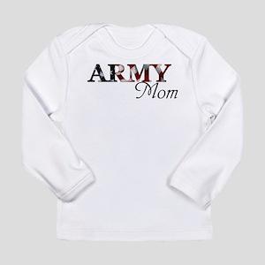 Army Mom (Flag) Long Sleeve Infant T-Shirt