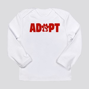 Cute Pets Paw Cat Dog Adopt Re Long Sleeve T-Shirt