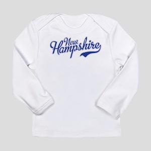New Hampshire Script Font Long Sleeve T-Shirt