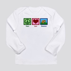 Peace Love Hamsters Long Sleeve Infant T-Shirt