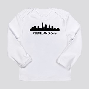 Cleveland Cityscape Skyline Long Sleeve T-Shirt