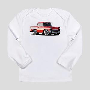 BabyAmericanMuscleCar_57BelR_Xmas_Red Long Sleeve