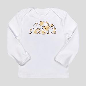 Kawaii Hamster Pile Long Sleeve T-Shirt