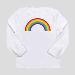 Cool retro graphic rainbow design Long Sleeve Infa