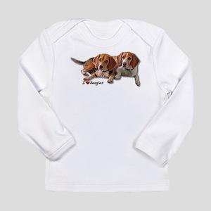 Two Beagles Long Sleeve Infant T-Shirt