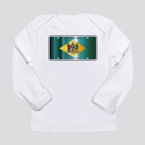 Delaware State License Plate F Long Sleeve T-Shirt