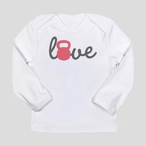 Love Kettlebell in Pink Long Sleeve Infant T-Shirt